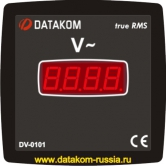 DV-0101 Вольтметр , 1 фаза, 96x96mm